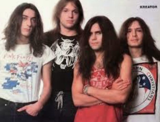 Kreator in the 80s with mille p1