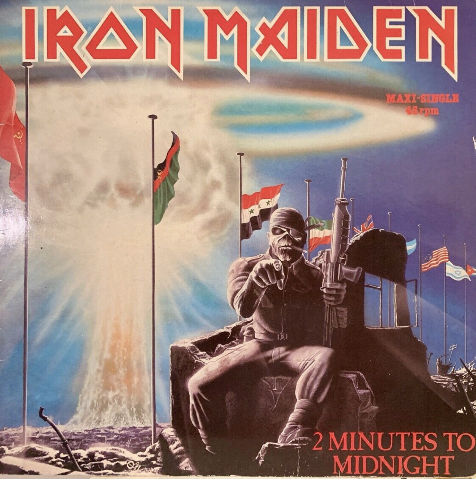Iron Maiden 2 MINUTES TO MIDNIGHT 7""