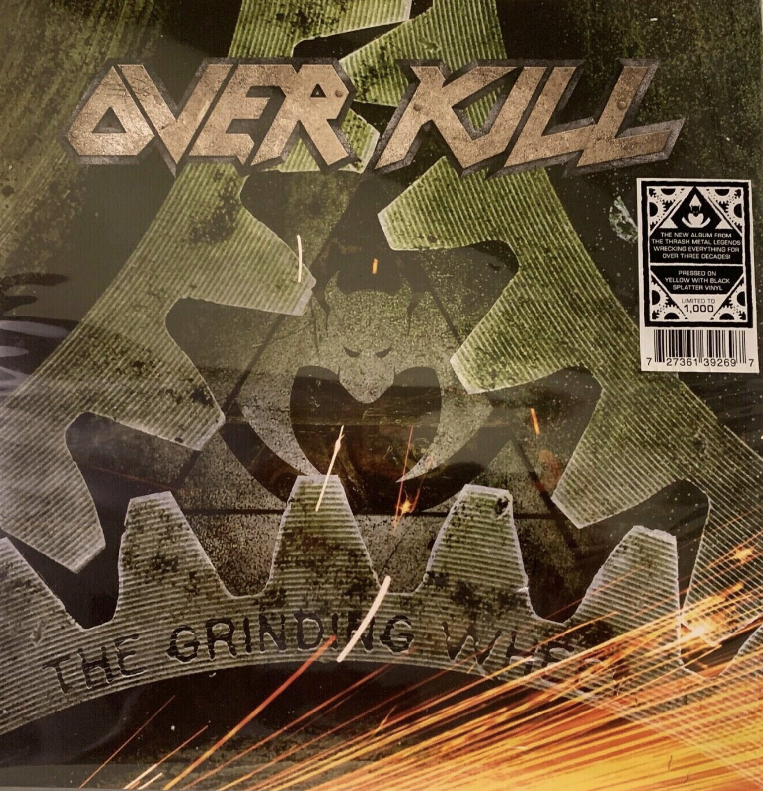 OVERKILL THE GRINDING WHEEL LP