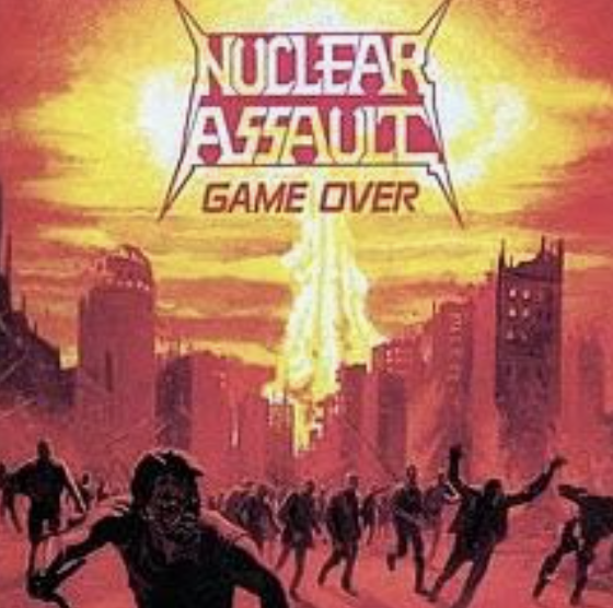 Nuclear Assault - Game Over ORIGINAL 1986 VINYL First Pressing Combat Records