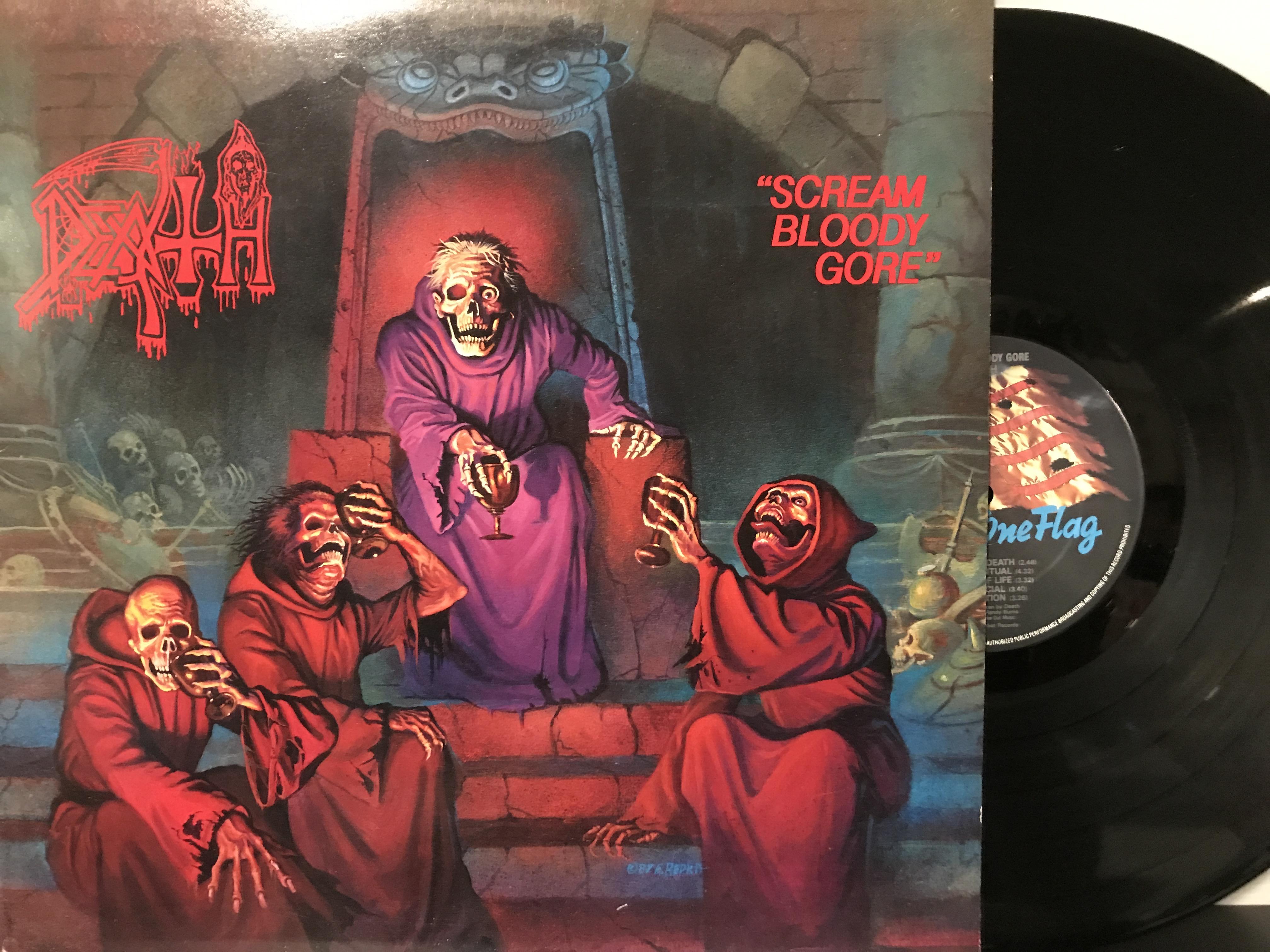 Death – Scream Bloody Gore LP Under One Flag – FLAG 12 UK