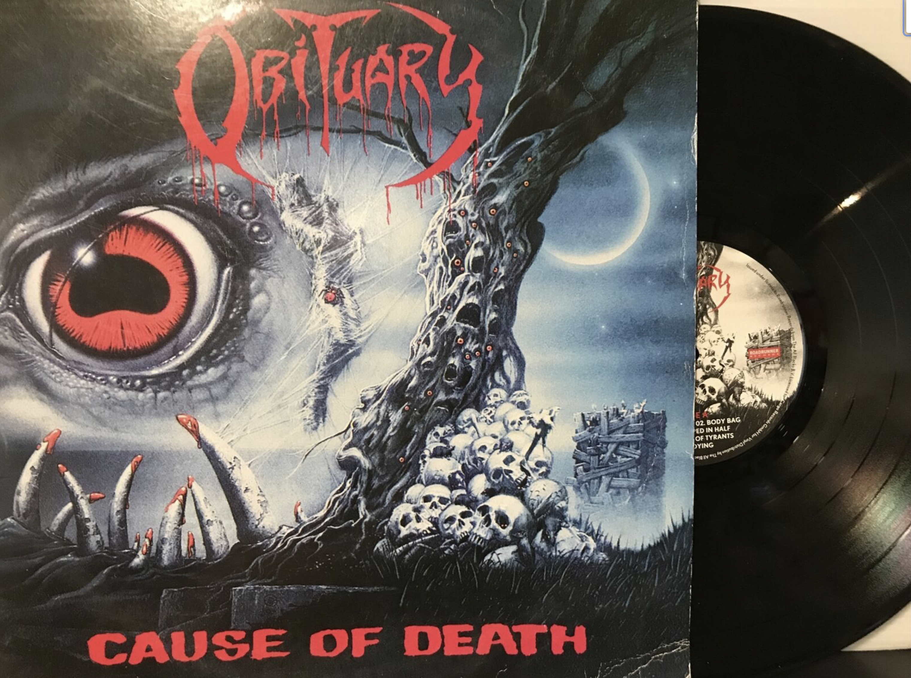 Obituary ‎– Cause Of Death LP 2010 Cargo Records ‎– RRCAR 8767-1