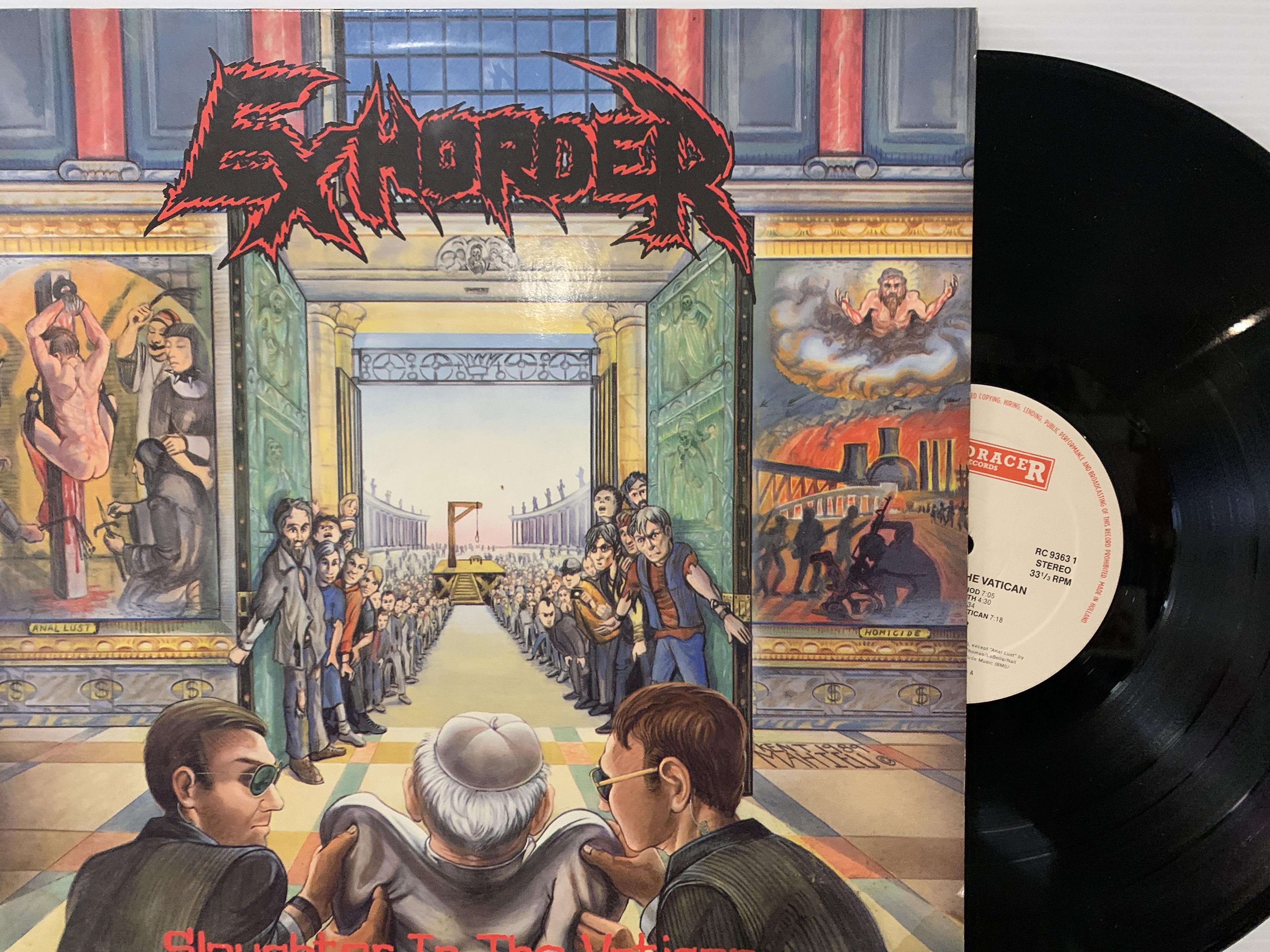 Exhorder-–-Slaughter-In-The-Vatican-LP-1990-Roadracer-RO-9363-1